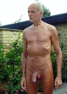 90 yo man with huge erect dick, mature male nude..