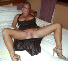 Busty middle-aged wives spreading their legs and..