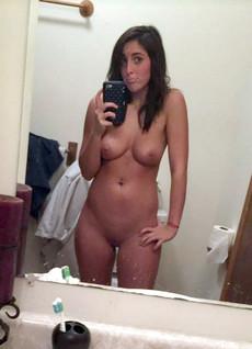 Busty girlfriend, amateur sex selfie home. I say..