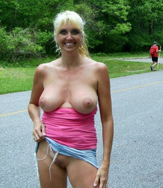 Mature women with big asses show their twats in..