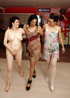 Frolicking mature ladies ready to fuck