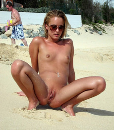 Very cute girls walking nude and sunbathing with..