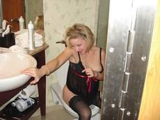 Nice shot in bathroom :)