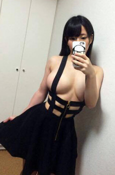 Sexy asian Woman With Huge Boobs Selfie.