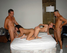 Private swingers party and wife swapping