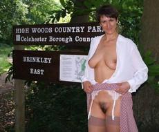 Mature aged moms walking topless in brinkley..