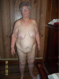 Very very fat granny fully naked in the shower,..