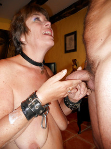 Fetish mature wife fucks with her husband in the..