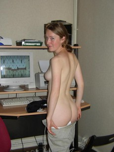 Hot slender milf, nude PC