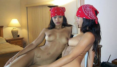 Gallery of an amateur black babe in various..