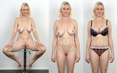European girls before and after undressing