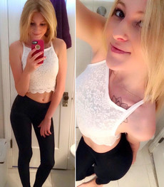 Beautiful young coed posing in these hot selfies