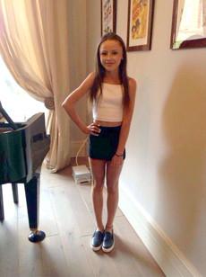 Petite teen schoolgirl with nice smile