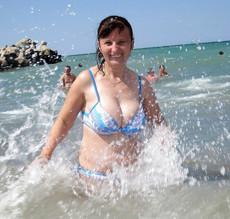 My curvy mature ex-wife in swimsuit