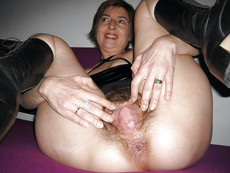Chubby mature whore asks cock in each of her hole