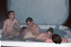 Amateur couples fuck in the jacuzzi at this..