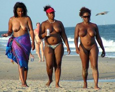 Different photos with amateur black nudists and..