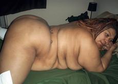Nude busty fully nude black girl in the bathroom
