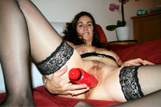 Busty MILFs which satisfied their cunts with toys