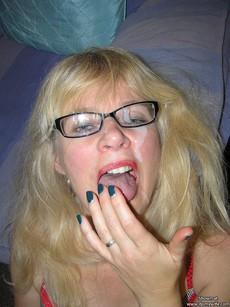 Wild mature whores cum covered in this amateur..