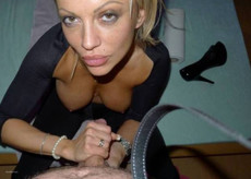 Slut MILF blonde and perfect cum bucket give her..