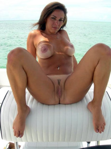 Hot amateur women posing nude on boats and..