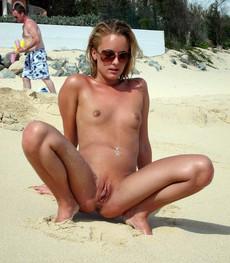 Very cute girls walking nude and sunbathing with..