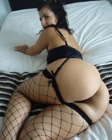Huge booty girlfriends in fishnet stockings
