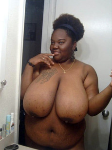 Gorgeous ebony big tits in a hot novice picture.