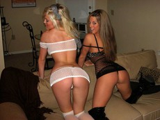 Handsome nasty girls with perverse big asses in..