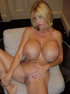 Blonde boobed MILF.