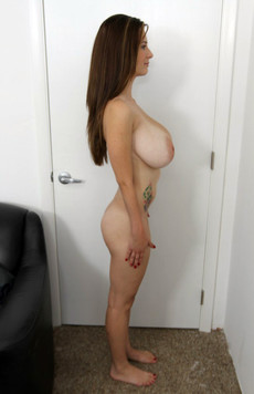 Short forty-year-old lady with huge saggy Tits