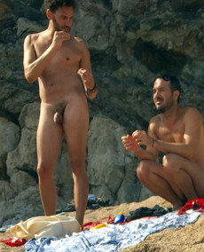 Nude beach cock gay couple