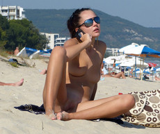 Public pussy at the nudist beach no swimsuit