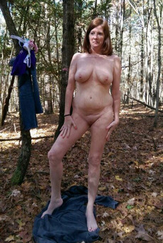 Naked walk in the woods pussy on the yellowed..