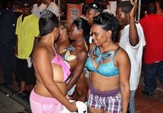Black sex party in Libya. Sexy black stripper