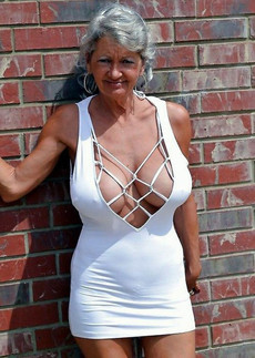 Busty and sexy english old woman, big and round..