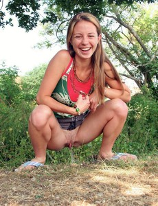 Teens pee on the street and in public, amateur..