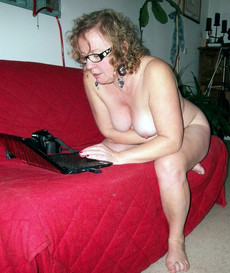 My mature wife never dressed when we are on..