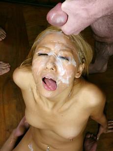 Naked Chinese girl sucks and licks balls while..