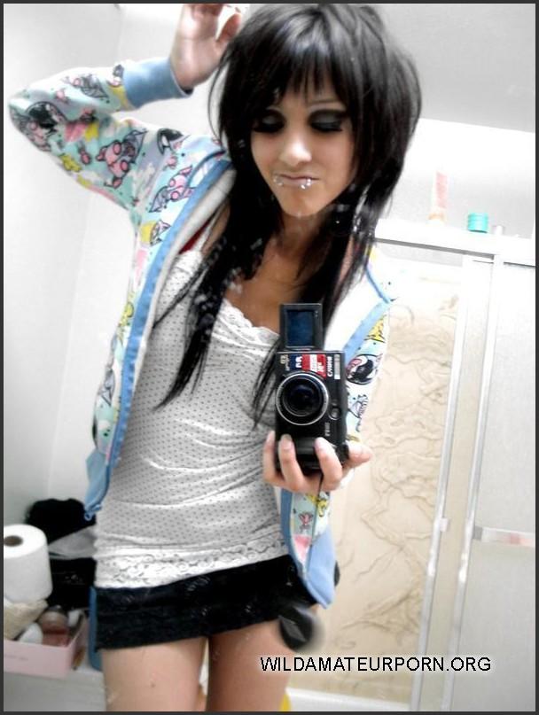 Cute emo teen having sex at home.. Img #8
